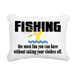 Fishing Fun Rectangular Canvas Pillow