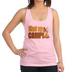 shut up and camp.png Racerback Tank Top