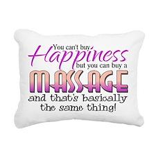 Happiness Massage Rectangular Canvas Pillow