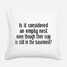 Empty Nest Square Canvas Pillow