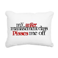 Anger Management Class Rectangular Canvas Pillow