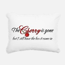 The Cherry is Gone Rectangular Canvas Pillow