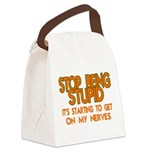 Getting On My Nerves Canvas Lunch Bag