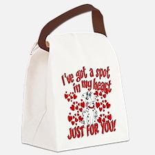 Dalmatian Valentine Canvas Lunch Bag