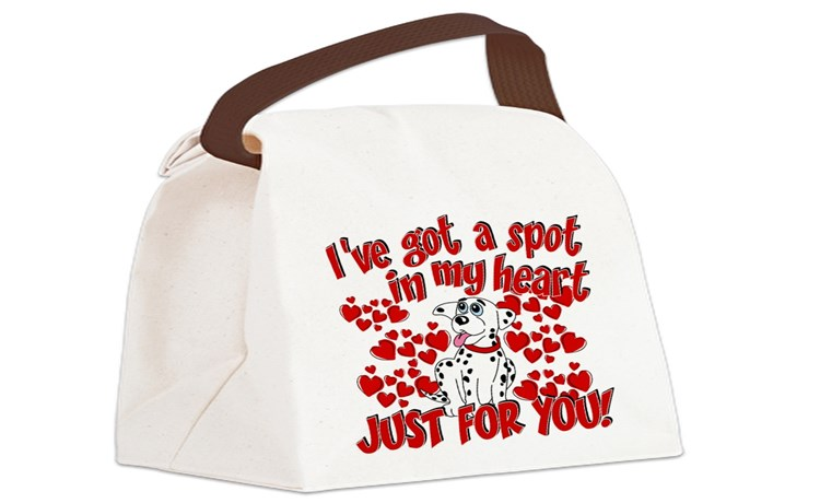 Dalmatian Lunch Bags  Totes, Insulated Neoprene Lunch Bags