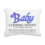 Baby - Coming Soon! Rectangular Canvas Pillow