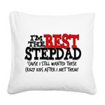 Best Stepfather Square Canvas Pillow