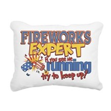 Fireworks Expert Rectangular Canvas Pillow