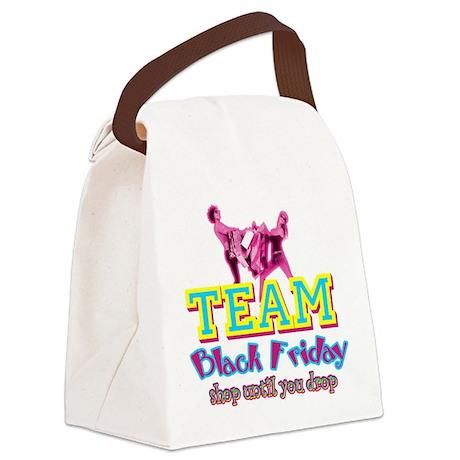 Team Black Friday Canvas Lunch Bag