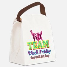 Team Black Friday Canvas Lunch Bag