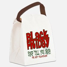 Black Friday Shop 'Till You Drop Canvas Lunch Bag