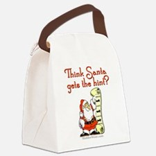 Santa - Get the hint! Canvas Lunch Bag