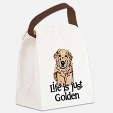 Life is Just Golden Canvas Lunch Bag