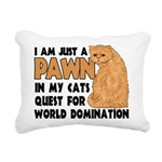 Cat's World Domination Rectangular Canvas Pillow