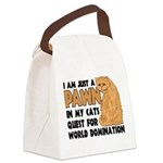 Cat's World Domination Canvas Lunch Bag