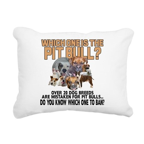 Find the Pit Bull Rectangular Canvas Pillow