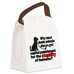 stupidity of humans.png Canvas Lunch Bag