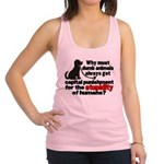 stupidity of humans.png Racerback Tank Top