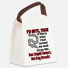 I'd Bite, Too Canvas Lunch Bag