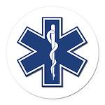EMS EMT Rescue Logo Round Car Magnet