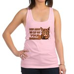 CUT OUT YOUR FINGERS.png Racerback Tank Top