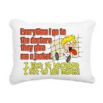 hugmyself.png Rectangular Canvas Pillow