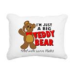 Big Teddy Bear Rectangular Canvas Pillow