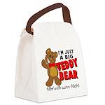 Big Teddy Bear Canvas Lunch Bag