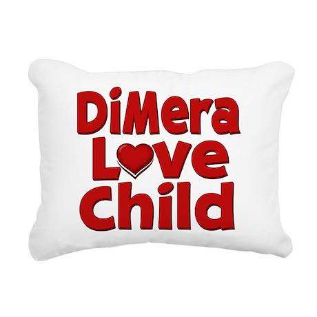 DiMera Love Child Rectangular Canvas Pillow