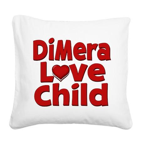 DiMera Love Child Square Canvas Pillow