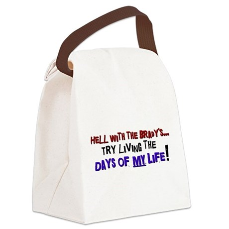 DAYSOFMYLIFEbl.png Canvas Lunch Bag