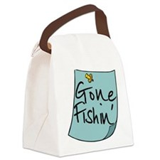 Gone Fishin' Note Canvas Lunch Bag