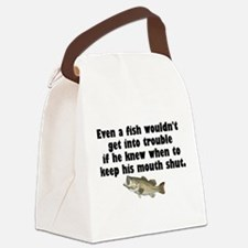 Dumb Fish Canvas Lunch Bag