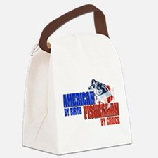 American by Birth - Fisherman by Canvas Lunch Bag