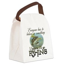 Believe in Fishing Canvas Lunch Bag