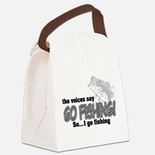 The Voices Say... Canvas Lunch Bag