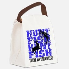 Hunt Fish Canvas Lunch Bag