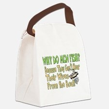 Why Do Men Fish? Canvas Lunch Bag