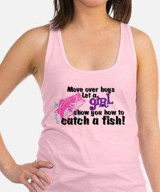 Move Over Boys - Fish Racerback Tank Top