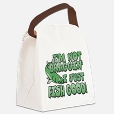 Cute Fishermen Canvas Lunch Bag