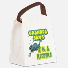Grandpa says... Canvas Lunch Bag