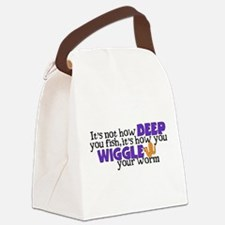Wiggle your worm Canvas Lunch Bag