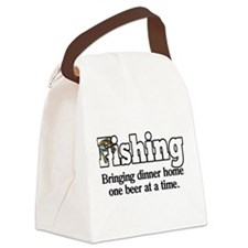 One Beer At A Time Canvas Lunch Bag