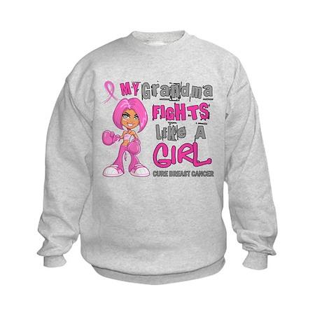 Fights Like a Girl 42.9 Breast Cancer Kids Sweatsh