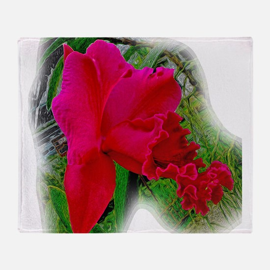 Red Carpet Orchid Throw Blanket