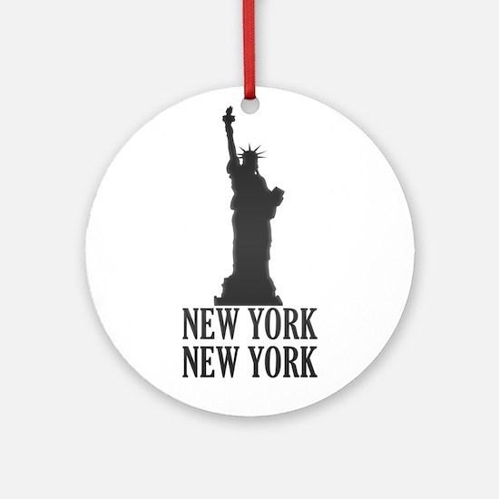 NY Liberty Ornament (Round)