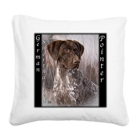German Shorthaired Pointer Square Canvas Pillow