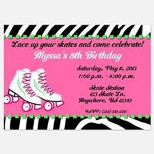 Skate Party Birthday Invitation Invitations