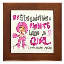 Fights Like a Girl 42.9 Breast Cancer Framed Tile