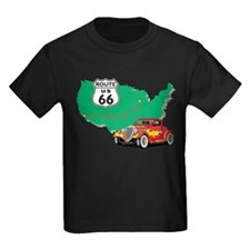 Route 66 With Red Hot Rod T